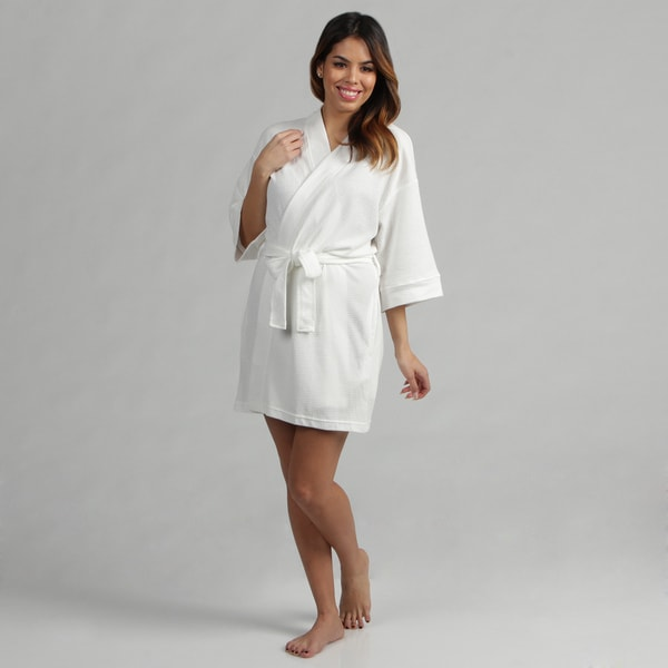 Aegean Apparel White Women's Lightweight Bathrobe