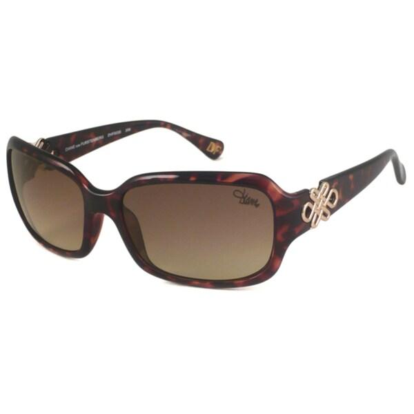 Diane Von Furstenberg Women's DVF503S Rectangular Sunglasses