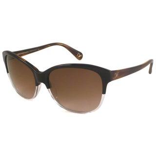 Diane Von Furstenberg Women's DVF536S Kendra Rectangular Sunglasses