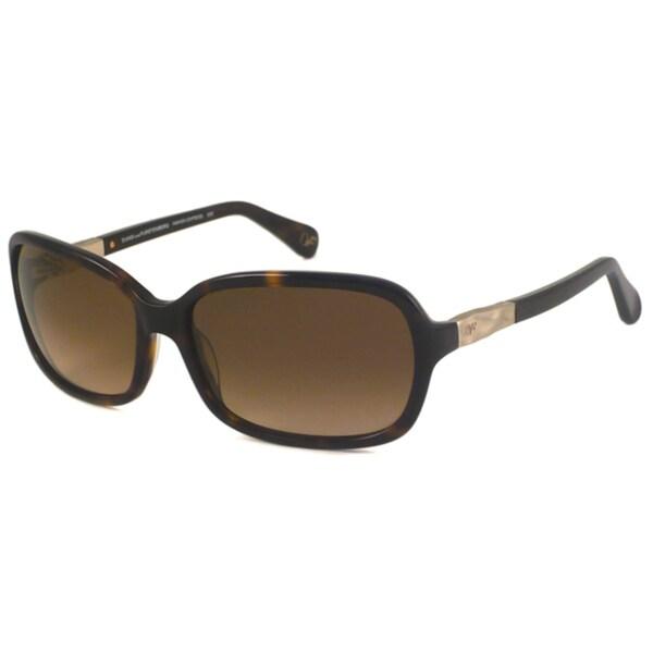 Diane Von Furstenberg Women's DVF550 Amanda Rectangular Sunglasses