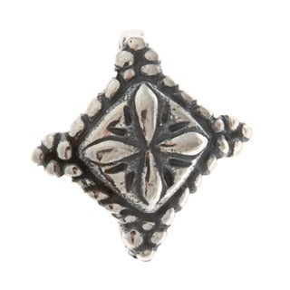 Sterling Silver Southwestern Floral Bail and Hook