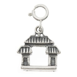 Sterling Silver Chinese Gate Charm