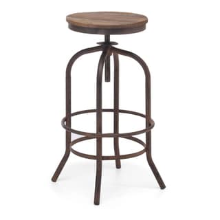 Twin Peaks Distressed Natural Bar Stool
