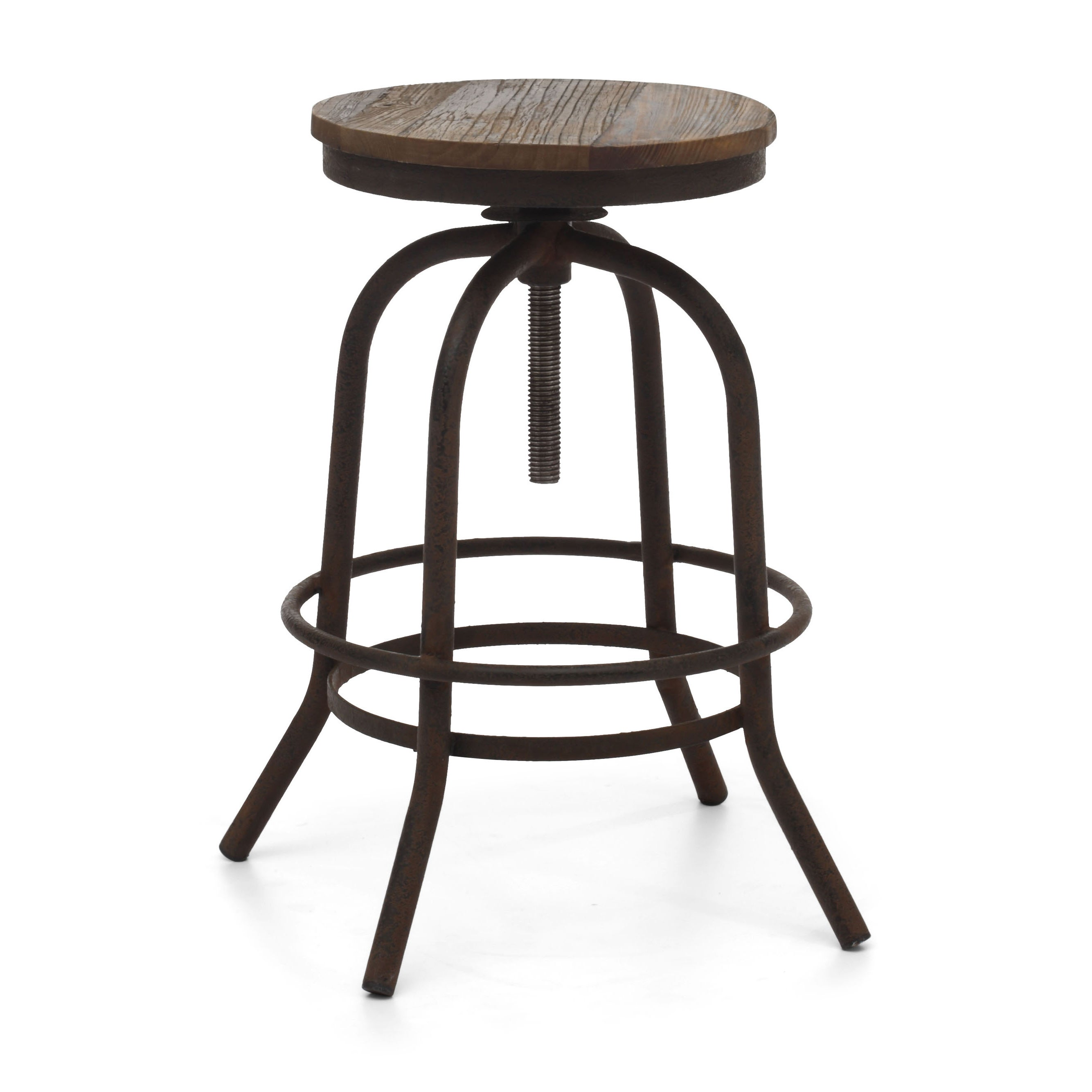 Twin Peaks Distressed Natural Counter Stool Overstock