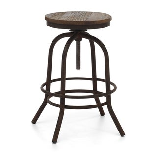 Twin Peaks Distressed Natural Counter Stool