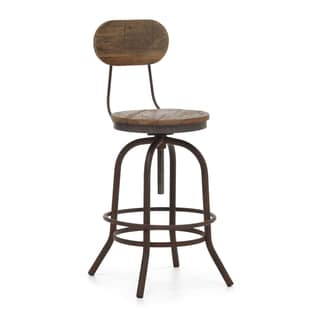 Twin Peaks Distressed Natural Counter Chair