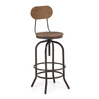 Twin Peaks Distressed Natural Bar Chair