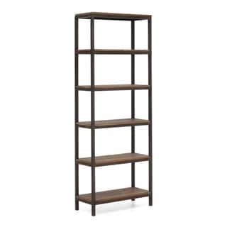 'Mission Bay' Tall 6-shelf Distressed Natural Finish Bookshelf