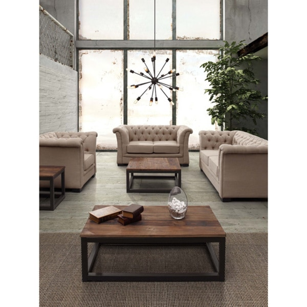 Civic Center Distressed Natural Long Coffee Table