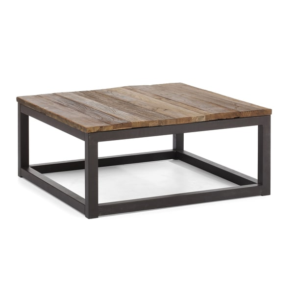Civic Center Distressed Natural Square Coffee Table Overstock Shopping Great Deals On Coffee