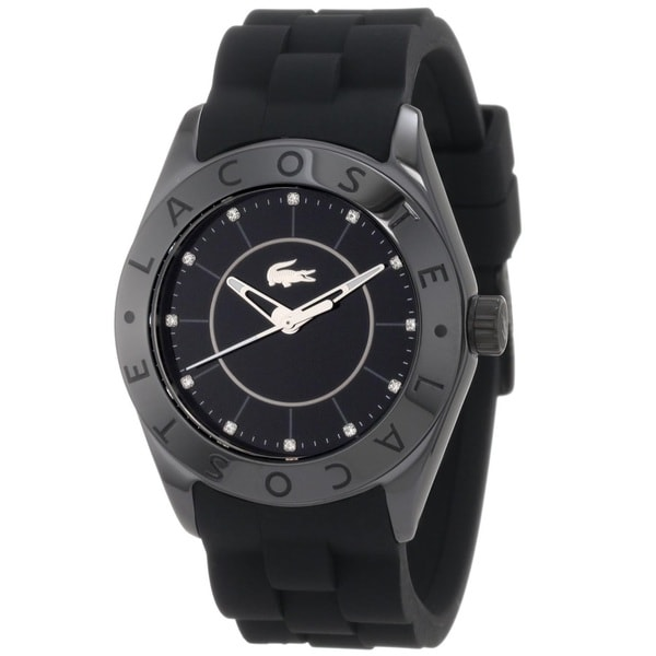Lacoste Women's Biarritz Black-Dial Stainless Steel Watch