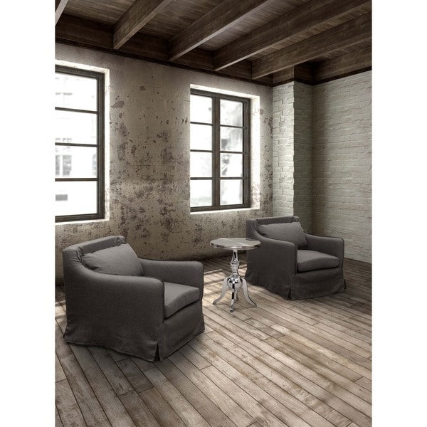 Pacific Heights Charcoal Grey Armchair