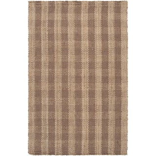 Country Living Hand-Woven Mounment Brown Natural Fiber Jute Rug