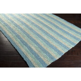 Country Living Hand-Woven Corbin Blue Natural Fiber Jute Rug