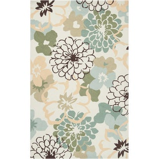 Hand-hooked Farmington Green Rug