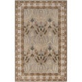 Hand-tufted Beige Floral Clarendon New Zealand Wool Rug
