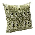 Batik Bonsai Green Decorative Accent Pillow
