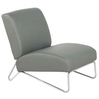 Grey Faux Leather Easy Rider Chair