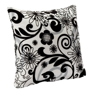 Efflorescence Floral Print Decorative Throw Pillow
