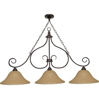 Nuvo 'Moulan' 3-light Copper Bronze Chandelier