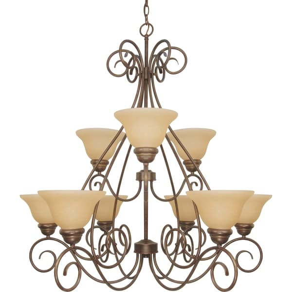 Nuvo 'Castillo' 9-light Sonoma Bronze Chandelier