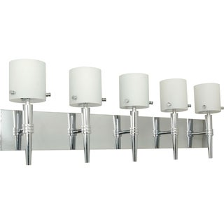 Nuvo 'Jet' 5-light Polished Chrome Vanity Fixture
