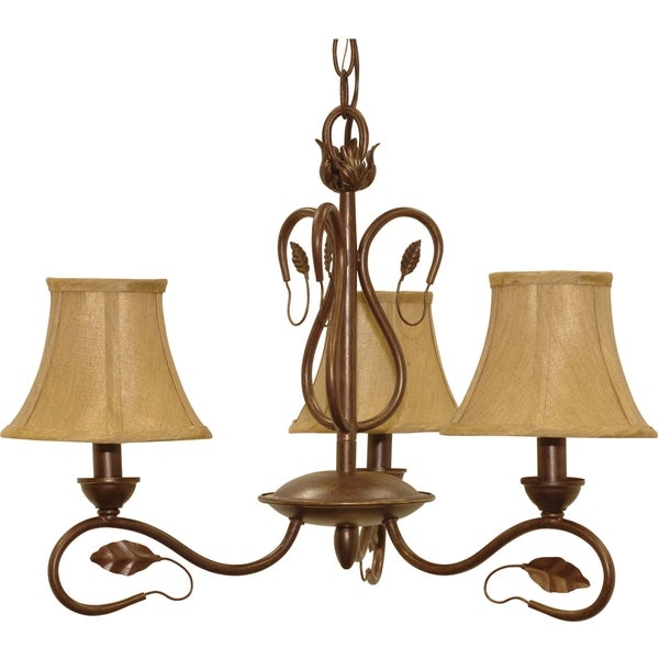 Nuvo 'Vine' 3-light Sonoma Bronze Chandelier