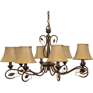 Nuvo 'Vine' 8-light Sonoma Bronze Chandelier