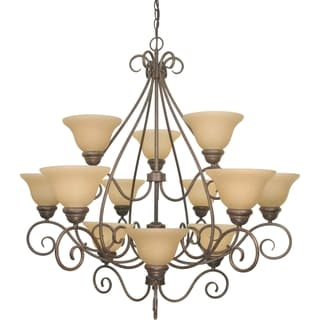 Nuvo 'Castillo' 12-light Sonoma Bronze Chandelier