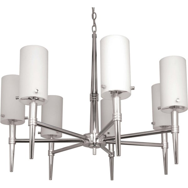 Nuvo 'Jet' 7-light Polished Chrome Chandelier