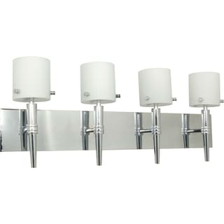 Nuvo 'Jet' 4-light Polished Chrome Vanity Fixture