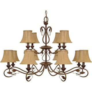 Nuvo Vine 12-light Sonoma Bronze Chandelier