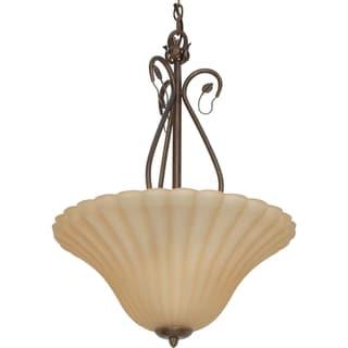Nuvo 'Vine' 3-light Sonoma Bronze Pendant
