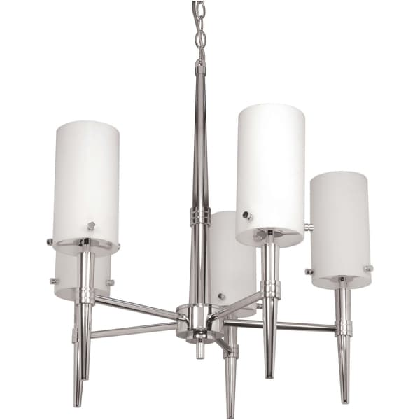 Nuvo Jet 5-light Polished Chrome Chandelier