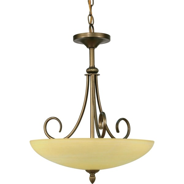 Nuvo Vanguard 3-light Flemish Gold Pendant