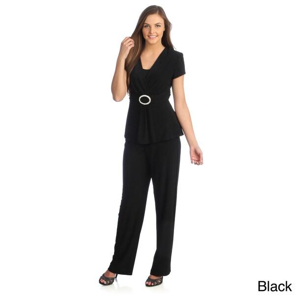 R & M Richards Women's 2-piece Pant Suit