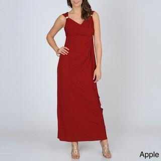 R & M Richards Women's Glitter Knit Evening Gown