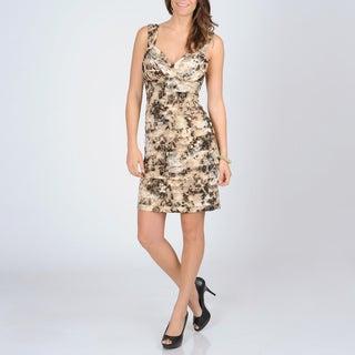 R & M Richards Animal Print Evening Dress