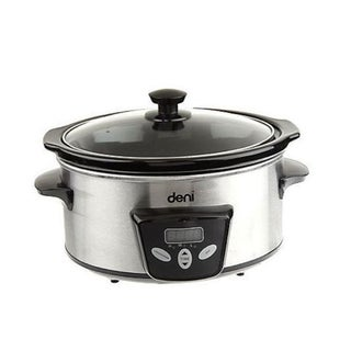 Deni 3.5 Quart Stainless Steel Digital Oval Slow Cooker