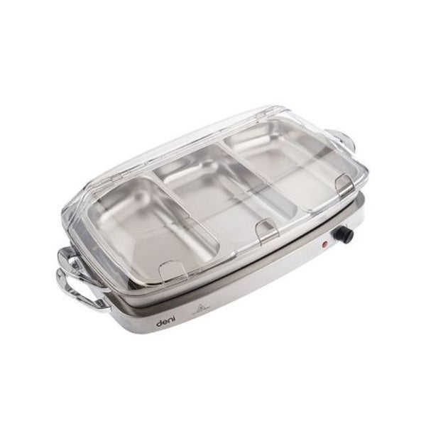 Deni Stainless Steel Buffet Server with Four Pans