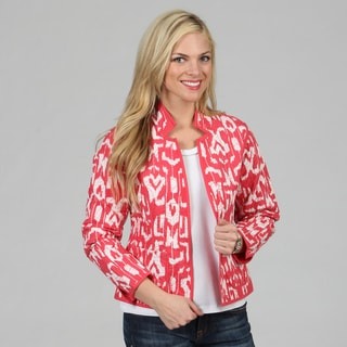 Women's Geranium Mackinaw Reversible Jacket
