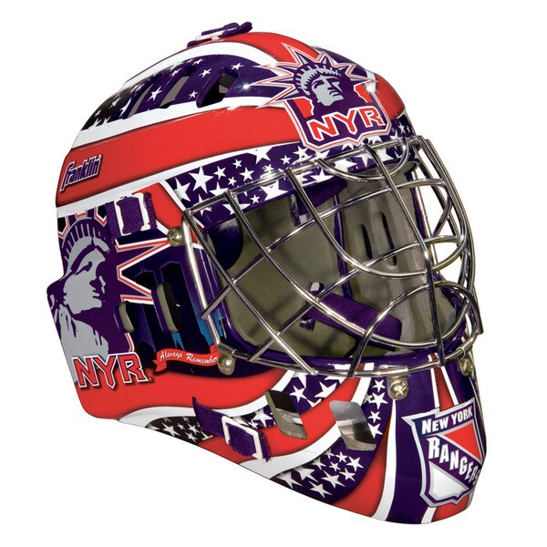 NHL Team New York Rangers SX Comp GFM 100 Goalie Face Mask