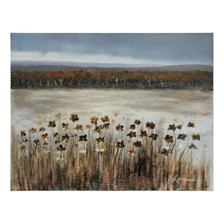 Lecavalier 'Serene Meadow' Hand-painted Canvas Art