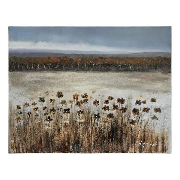 Lecavalier 'Serene Meadow' Hand-painted Canvas Art