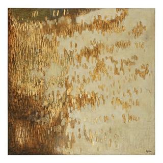 Charlene Lynch 'Gold Rush' Hand-painted Canvas Art