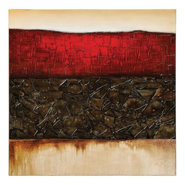 Giovanni Russo 'Secret Rendezvous' Hand-painted Canvas Art