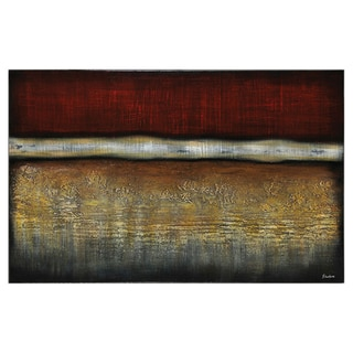 Stephane Fontaine 'The Lands' Hand-painted Canvas Art