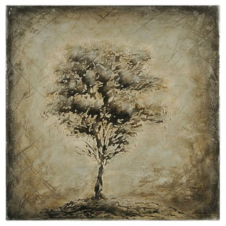 Lecavalier 'Nature's Silhouette I' Hand-painted Canvas Art