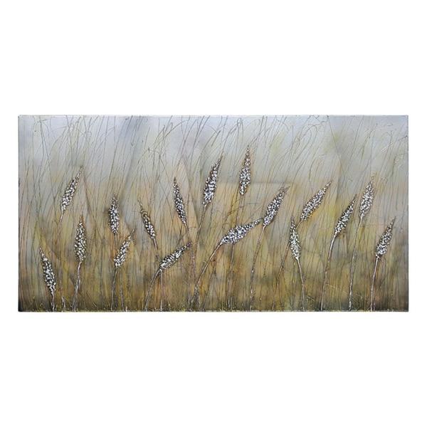 Ren Wil Lecavalier 'Wheat Fields' Hand-painted Canvas Art