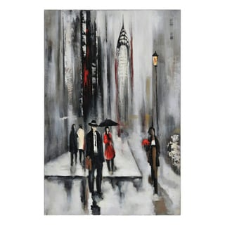 Lecavalier 'Bustling City II' Hand-painted Canvas Art